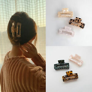 Women Lady Large Hair Claw Vintage Hair Catch Barrette Multicolor Hair Clips Fad