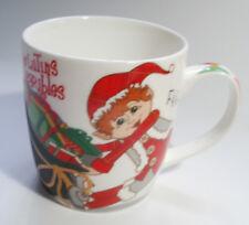 LUTINS Terribles Coffee Cup Mug Chalk Board Craie Porcelain RARE BEAUTY UNIQUE +