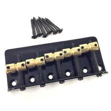 Wilkinson 5-string Black w/Brass Saddles Bass Bridge Wbbc5-Bk