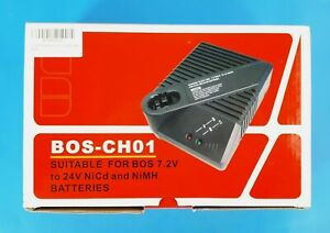 BOS-CH01 Charger for Bosch 7.2V to 24V NiCd NiMh Power Tool Batteries New