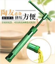 Stainless Steel Sugar Paste Extruder Craft Gun with 20 Sugar Craft Clay Tools
