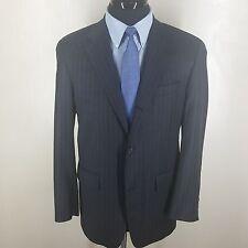 J.PRESS Striped Blazer-Sport Coat -3rd Btn Roll Center Vent 100% Wool  40-41 Reg