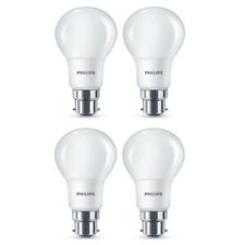 4x Philips LED Frosted B22 60w Warm White Bayonet Cap Light Bulbs Lamp 806 Lm