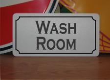 Wash Room Metal Sign washroom