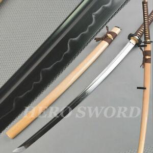 Razor Sharp Combat Ready Japanese samurai sword Clay Tempered T1095 Steel Katana