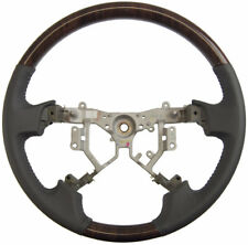 2008-2011 Toyota Avalon Steering Wheel Dark Gray Leather W/Dark Woodgrain New