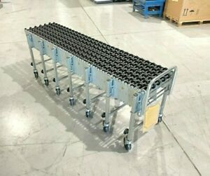 "NestaFlex 226 Gravity Skate Wheel Conveyor, 312""L x 18""W, Flexible Flow Cart"
