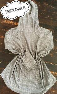 Lularoe Amber XL Sweater Material (Gray/White)
