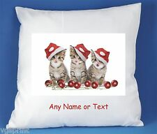 CAT / KITTEN PERSONALISED LUXURY SOFT SATIN POLYESTER CUSHION COVER D3