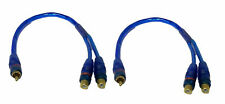 """2x 12"""" RCA Audio Jack Cable Y Splitter Adapter 1 Male to 2 Female Plug 2 Pcs"""