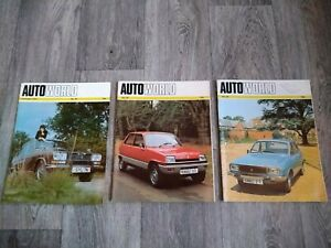 RENAULT AUTOWORLD AUTO WORLD Magazines 49 55 56 1974-1975 (Lot of 3)