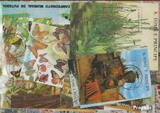 Sao Tome e príncipe sellos 100 diferentes bloques y Sheetlet
