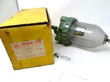 Vintage Hanna-Flo Engineering Works Oil Fog Air Line Lubricator with Glass Bowl