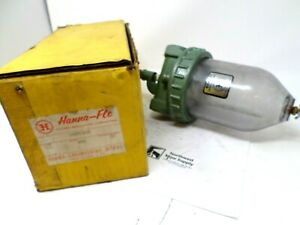 Vintage Hanna-Flo Engineering Works Oil Fog Air Line Lubricator with Glass Bowl
