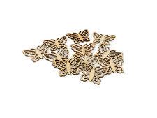 Wooden Filigree Stick On Butterflies x 12 Card Scrapbook Craft Decoration