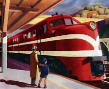American Locomotive  :   Edward Hopper   :  circa 1944  :   Fine Art  Print