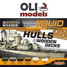 Hulls & Wooden Decks Ship Weathering Liquid Pigments Set 6x22ml - LIFECOLOR LP04