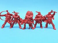 Indians. Set of 5 toy soldiers. Soft Plastic 54mm Tehnolog.