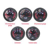 52mm 12V Car Meter Tachometer Oil Temperature Oil Pressure Voltage Turbine Gauge