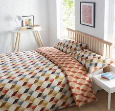 Uno Geometric Super King Quilt Duvet Cover & 2 Pillowcase Bedding Bed Setl