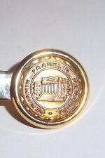 Vintage Ben Franklin Memorial Tie Clasps, Gold Tone Tie Clip Bar