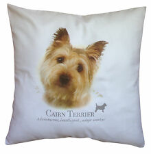 Cairn Terrier   Quality 100% Cotton Cushion Cover with Zip   Howard Robinson