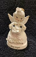 Vintage Napco June Angel w/ Wedding Pillow Gold Rings A1366 Made in Japan