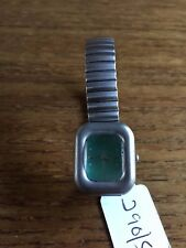Ladies Matt SS Square Faced Watch  – Some Hardly Noticeable Crystal Wear W290/5