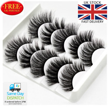 5 Pairs 3D Natural False Eyelashes Thick Mix volume Fake Eye Lashes Makeup UK
