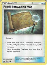 Pokemon SM Forbidden light: Fossil Excavation Map - 107/131 Trainer Common Card