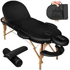 Table de massage cosmetique lit de massage reiki oval noir + accessoires set 3