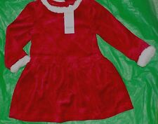 Gymboree Girls 3T NWT Christmas Holiday red velour dress