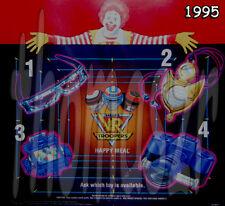 VR TROOPERS toy set (all 4) -  McDonald's McD / SABAN (1995) *NIOP