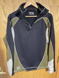 Cabelas Thermal Zone Base Layer Mens 1/4 Zip Long Sleeve Pullover Larg E.C.W.C.S