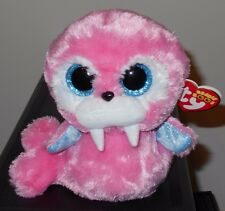"Ty Beanie Boos ~ Tusk the 6"" Pink Walrus ~ Plush Toy ~ New with Mint Tags"