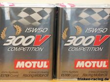14,-€/l Motul 300V Competition SAE 15W - 50  2 x 2 ltr  Motorsportöl 300 V