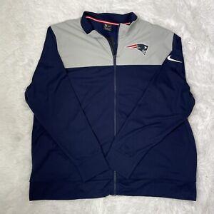 New Nike New England Patriots NFL Coaches Sideline Jacket Sz XXL NKB6-006Y