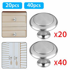 20Pcs Stainless Steel Round Kitchen Cabinet Door Handles Drawer Pulls Knobs