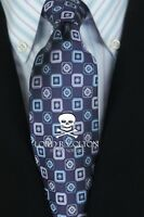 Lord R Colton Studio Tie - Purple & Blue Geometric Silk Necktie - $95 Retail New