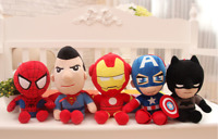 Spiderman Soft Stuffed Super Hero Avengers Captain America Iron Man Plush Toys
