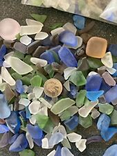 Lot 5 Lbs Sea Glass Jewelry Craft Blue Green White Some Pink & Brown Seaglass