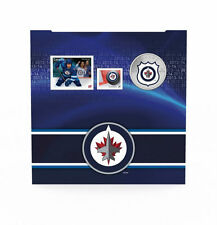 2014 Canada NHL COIN AND STAMP GIFT SET - Winnipeg Jets, 25 Cent Colorized