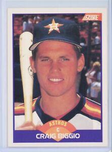 1989 SCORE #237 CRAIG BIGGIO Rookie RC (Astros) HOF