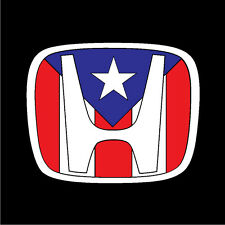 PUERTO RICO CAR DECAL STICKER  HONDA with PUERTO RICAN FLAG #227