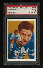 PSA 9 RED HORNER 1985 Hall of Fame Hockey Card #115