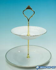 TIERED CUP CAKE AND SANDWICH STAND FINE BONE CHINA BY APPOINTMENT QUEEN