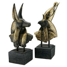 Anubis and Horus ancient Egyptian Gods sculpture Busts replica reproduction