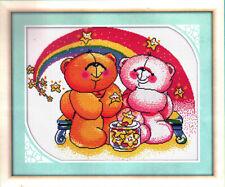 DIY Printed Cross Stitch Kits Embroidery Kits Teddy Bears