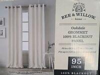 BEE & WILLOW Oakdale Grommet 100% Blackout Panel