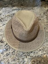 Stetson Hat Genuine Seagrass Leather Strap Size X Large